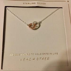 Jewelry - BNWT Sterling Silver & Rose Gold Link Necklace